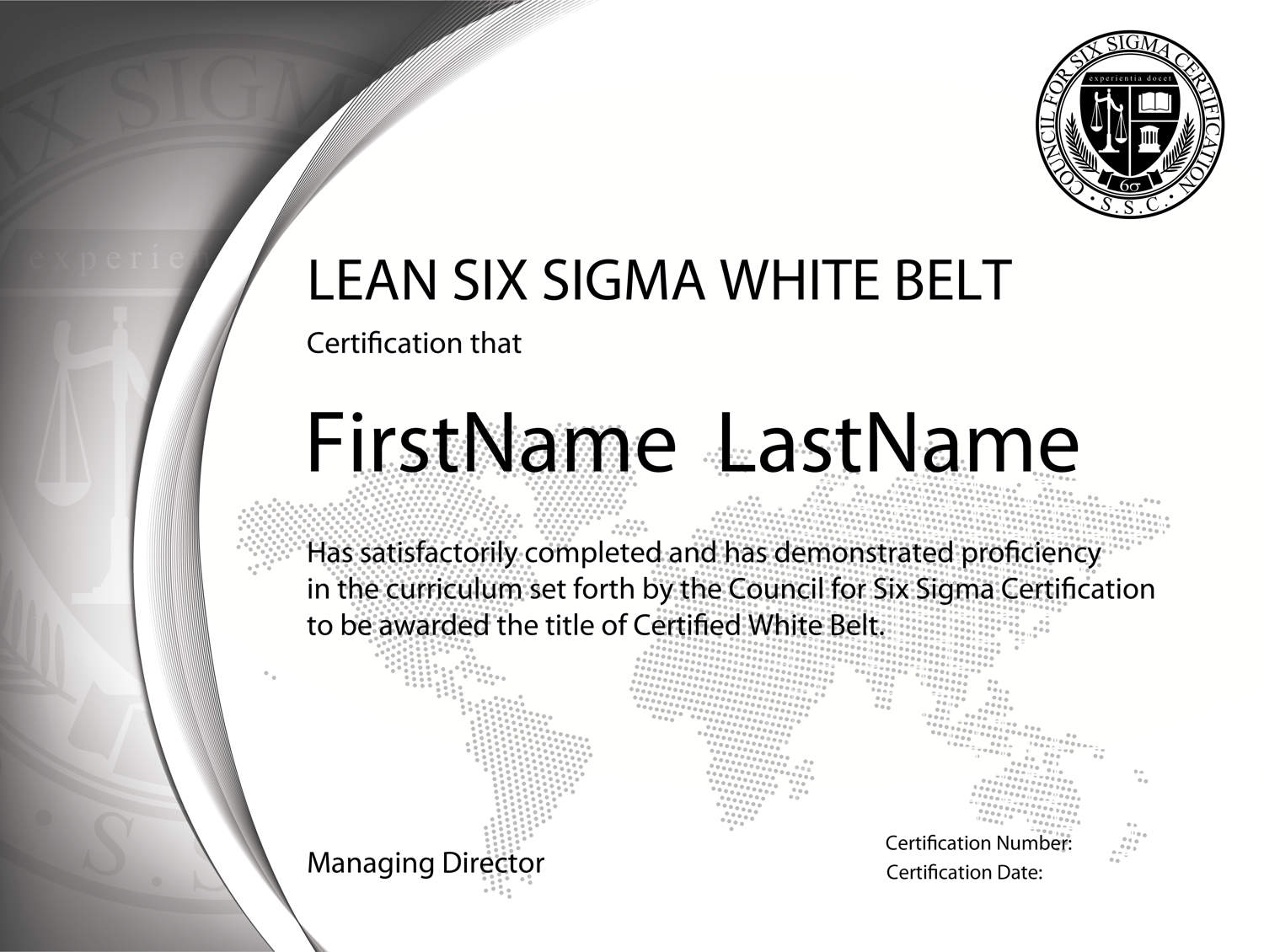 Free Six Sigma White Belt Training And Certification Fully Accredited