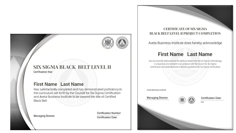Six Sigma Black Belt Certification Black Belt