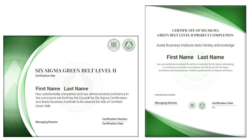 Six Sigma Green Belt Lean Green Belt Green Belt